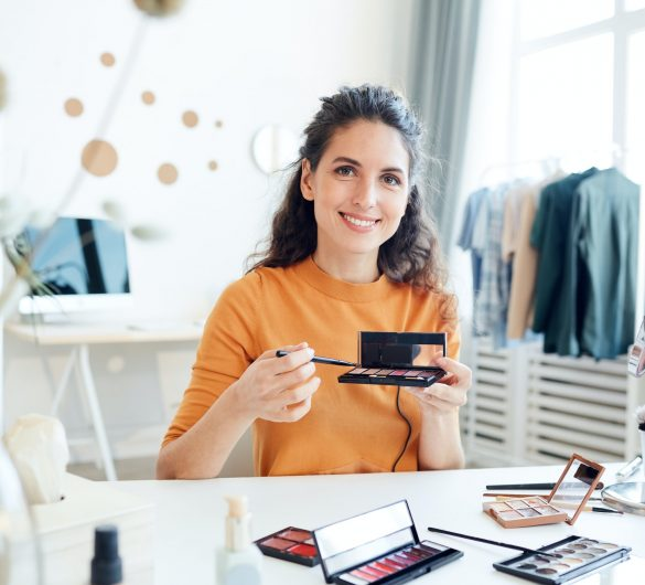 Woman With Make-Up Palette